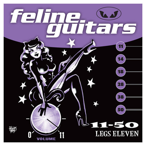 Feline Guitar Strings 11-50 Legs Eleven