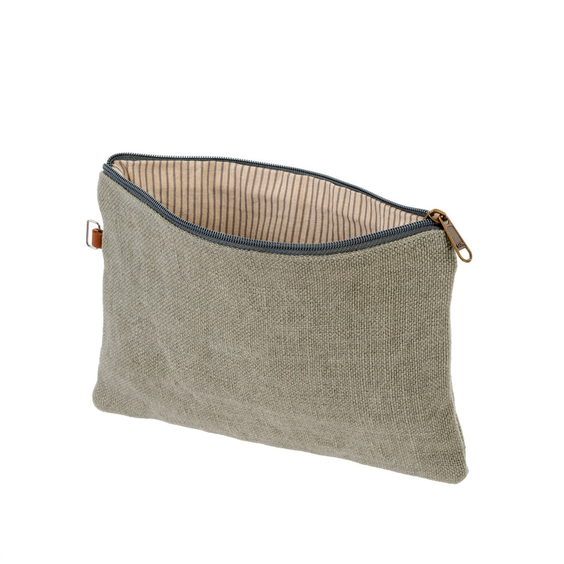 Soft Jute Pouch - Sea Green