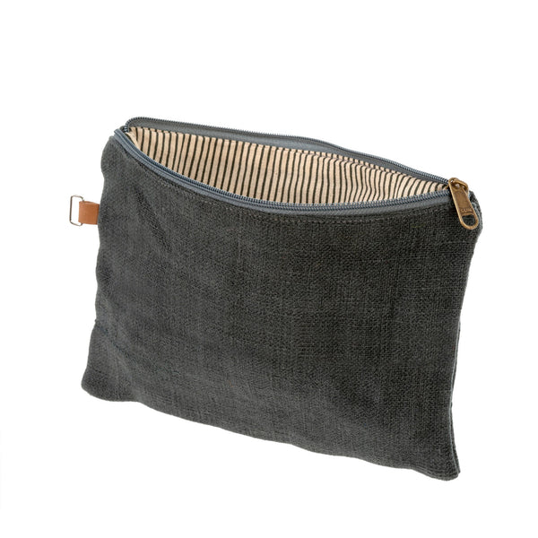 Soft Jute Pouch - Charcoal