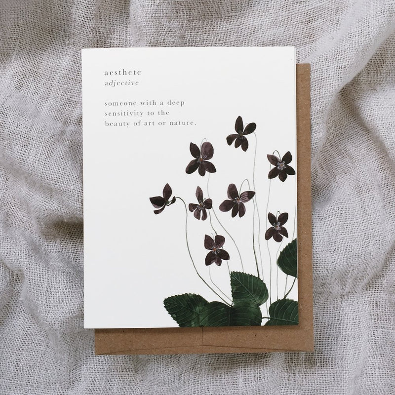 Aesthete - greeting card