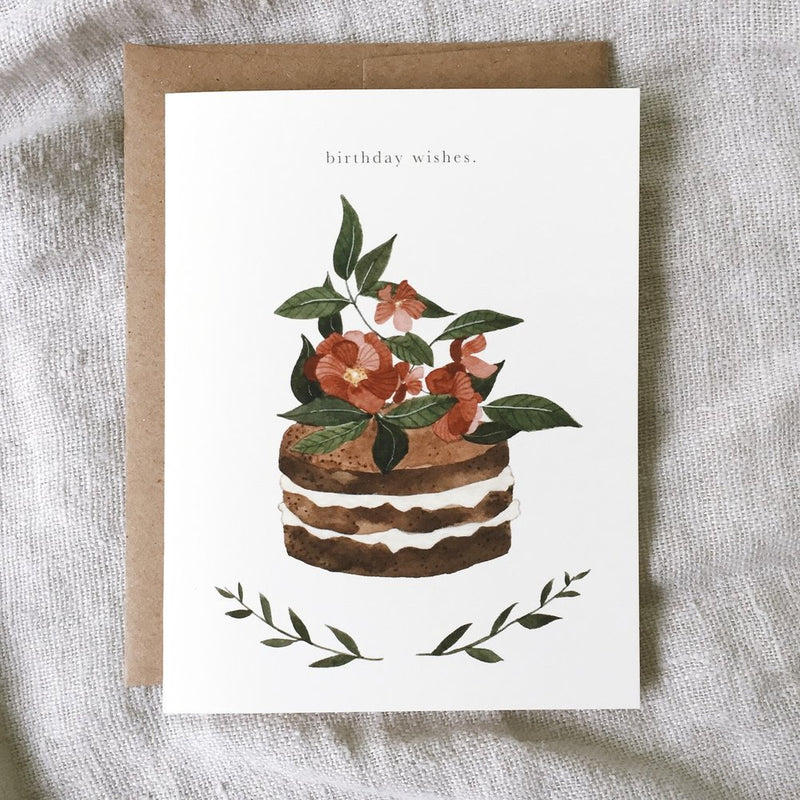 Birthday wishes - greeting card