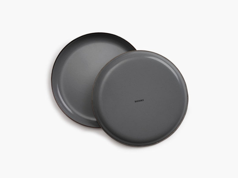 Enamel Salad Plate Set - Slate Gray