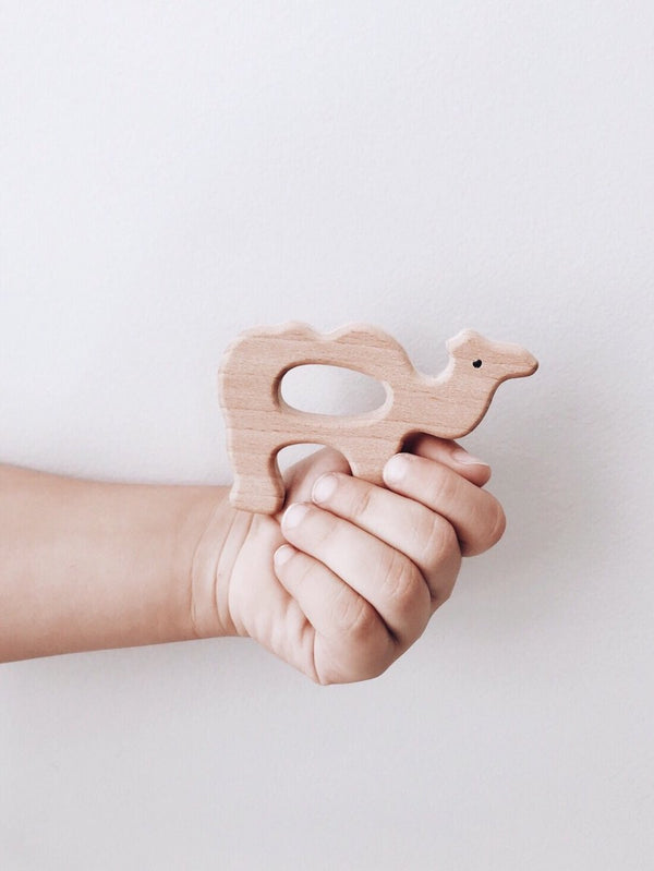 Wood Camel Teether