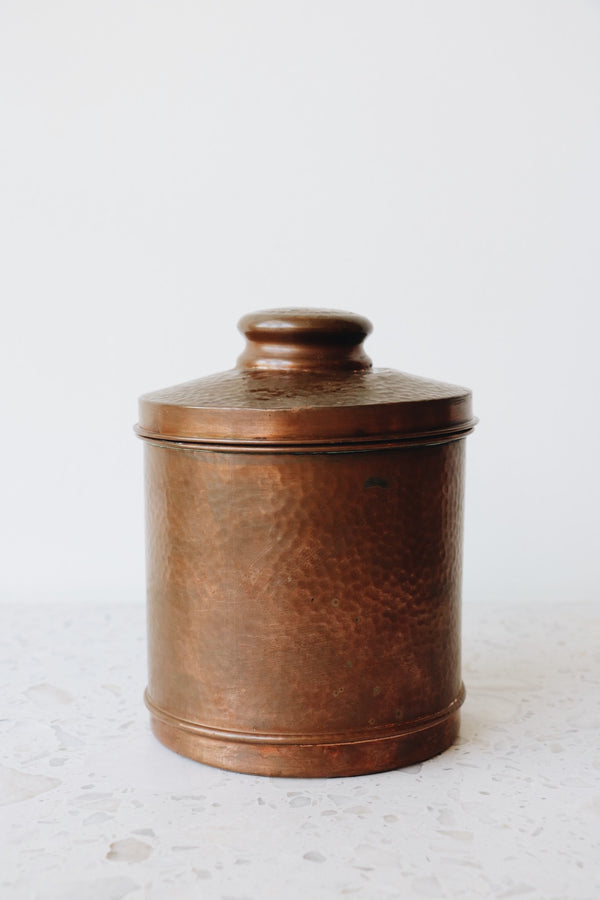 FOUND. Copper Canister