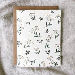 Floral pattern - greeting card