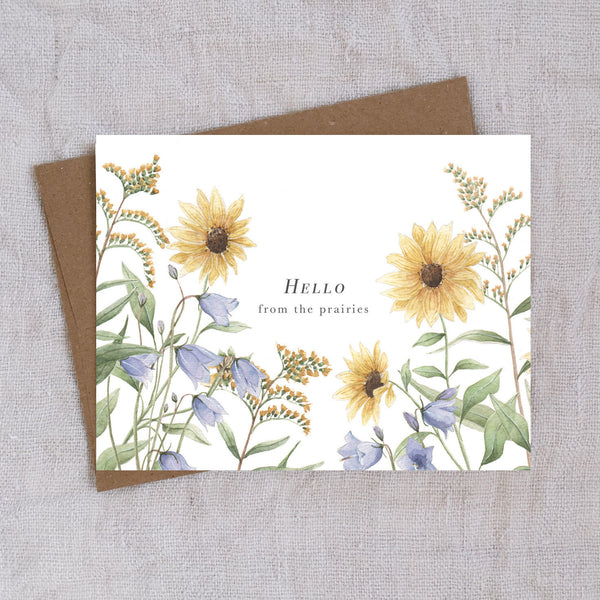Hello from the Prairies - greeting card