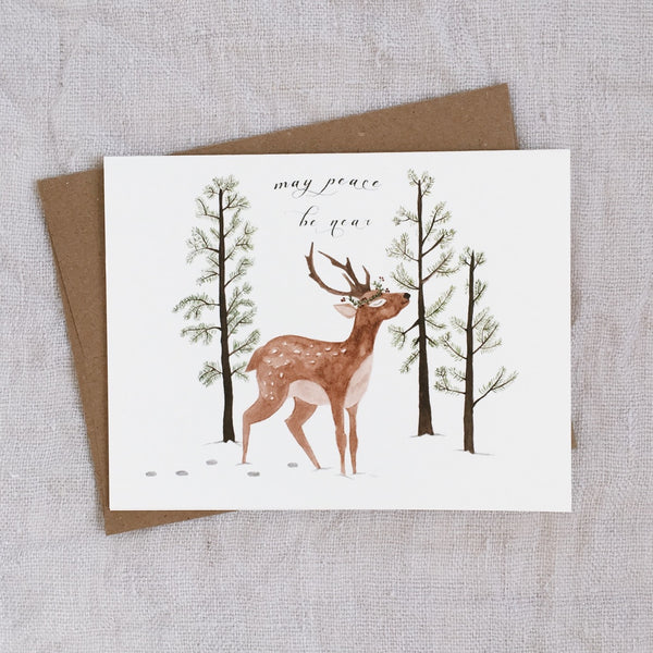 """May Peace be Near"" - Holiday Greeting card"