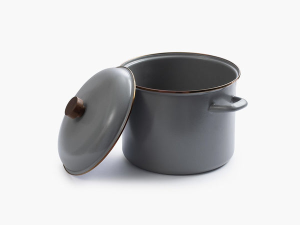 Enamel Stock Pot - Slate Gray