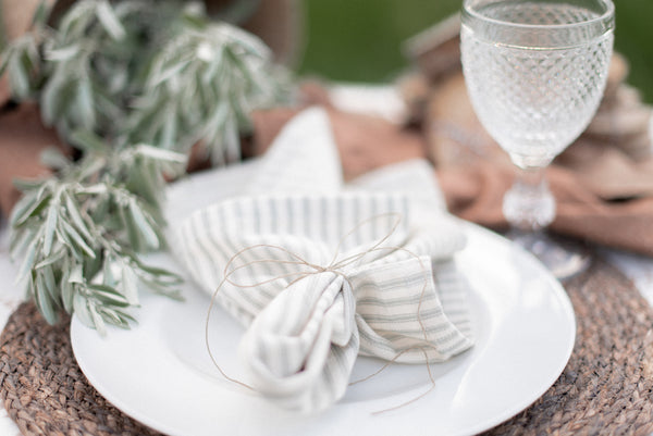 Gray Ticking Napkin, Set of 4