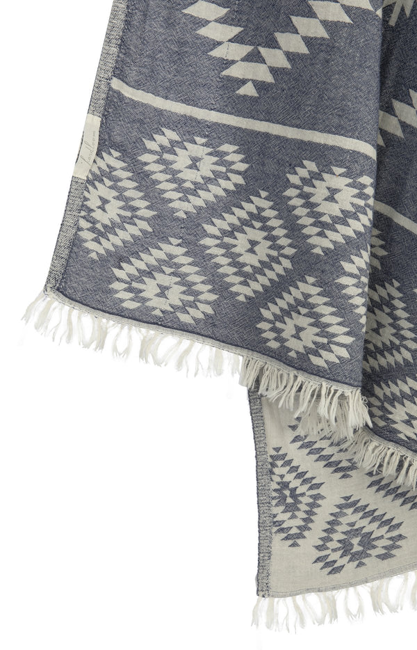 Tribe Turkish Towel - Navy