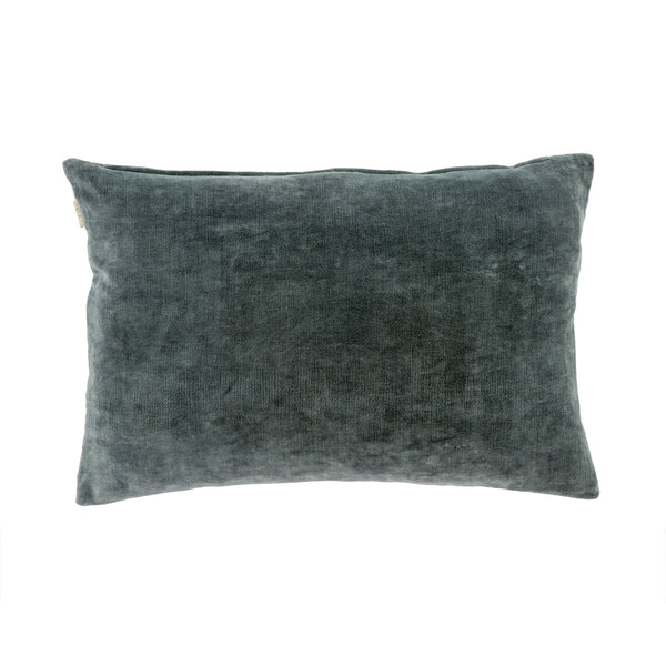 Villa Velvet Pillow - Grey