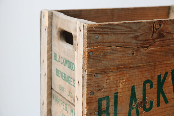FOUND. 'Blackwoods' Wooden Crate