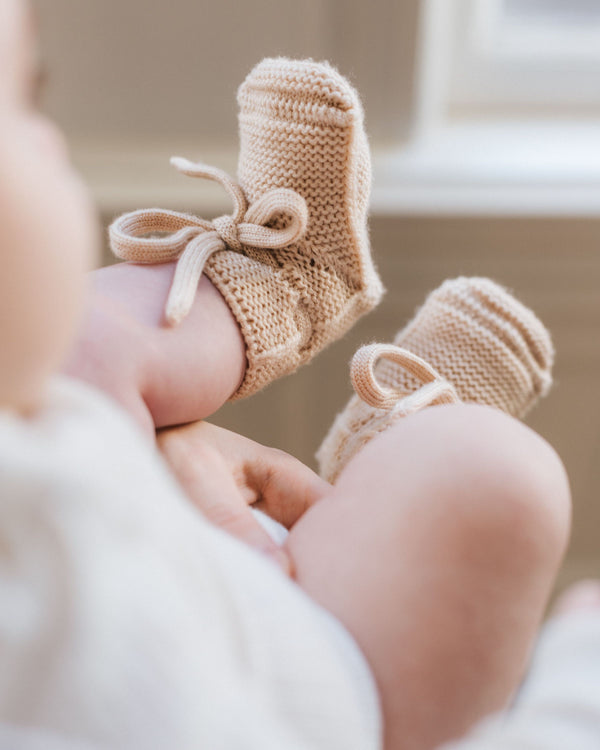 Merino Wool Booties - Oat