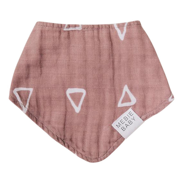 Cloth Bib - Blush Triangle