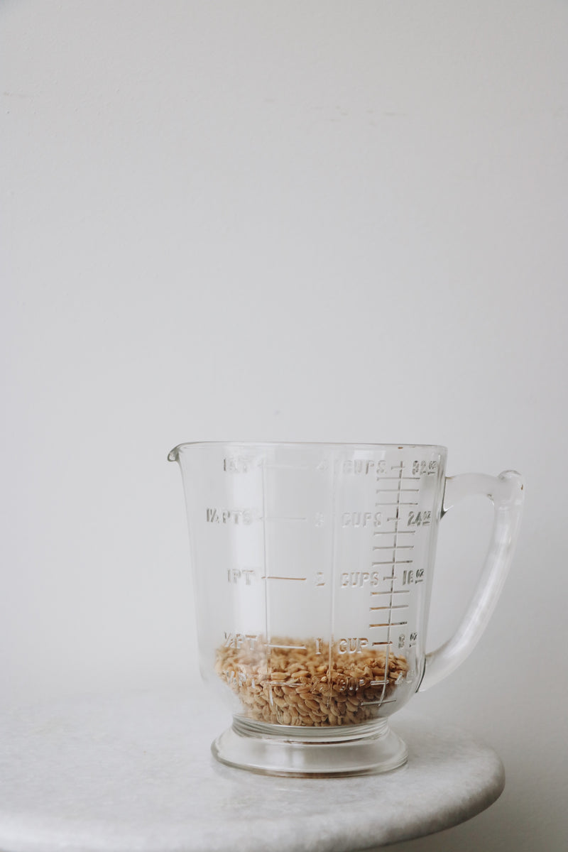 FOUND. 4 Cup measuring jar