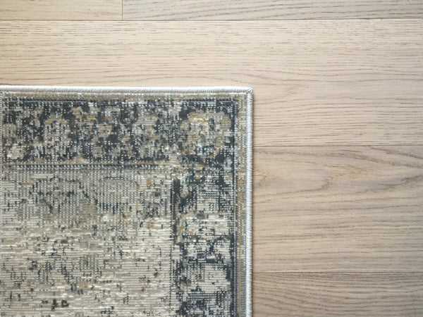 Dominion Light Grey + Cream Area Rug