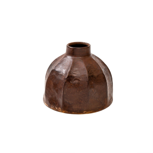 Rust Metal Vase - Medium