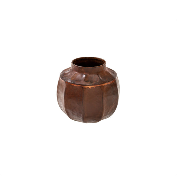 Rust Metal Vase - Small