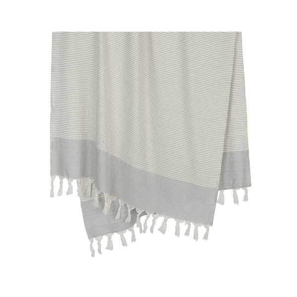 Hare Turkish Towel - Light Grey
