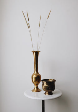 FOUND. 'Amari' Brass Vase