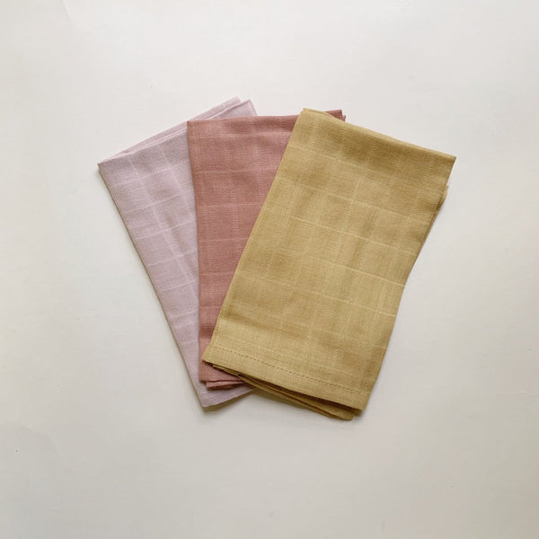 Muslin Wash Cloth - Warm colors