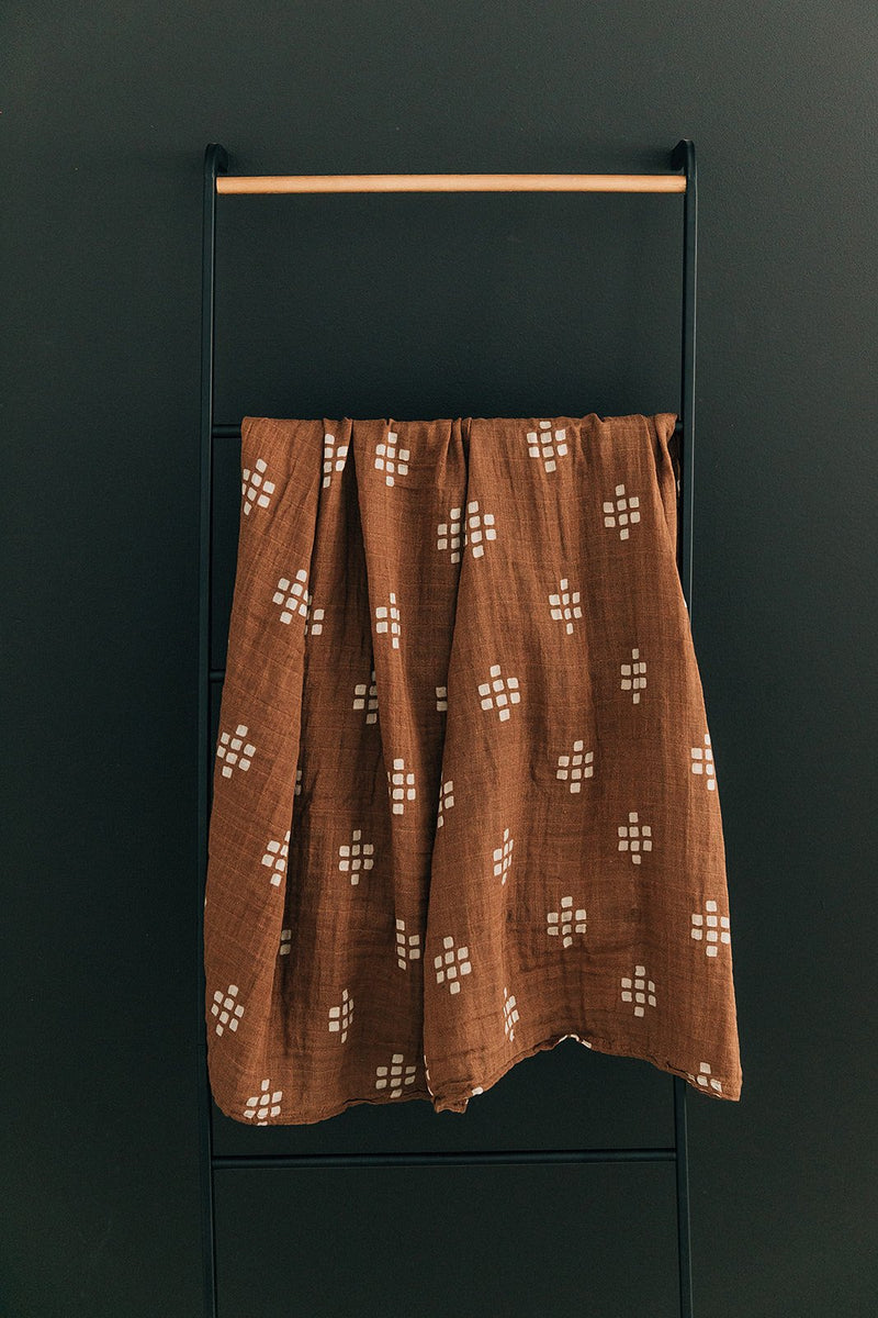 Muslin Swaddle Blanket - Chestnut