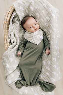 Muslin Swaddle Blanket - Sand Rainbow