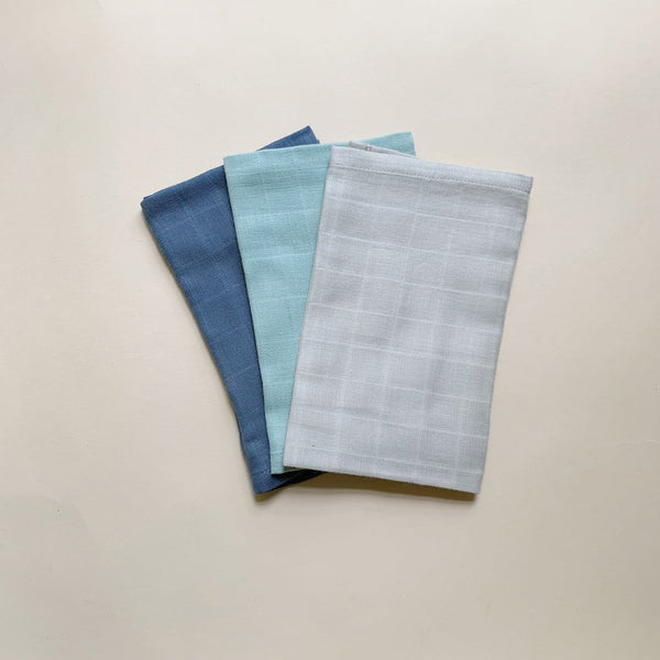 Muslin Wash Cloth - Cool colors