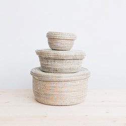 Nesting Storage Basket with Lids - Small