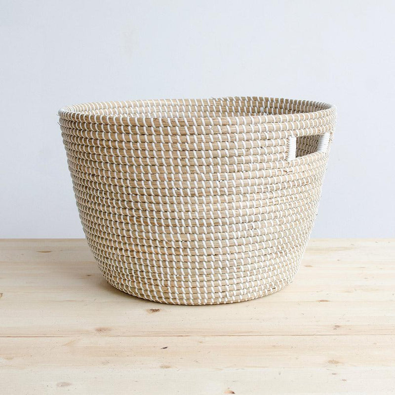 Nina Woven Storage Basket - Large - White