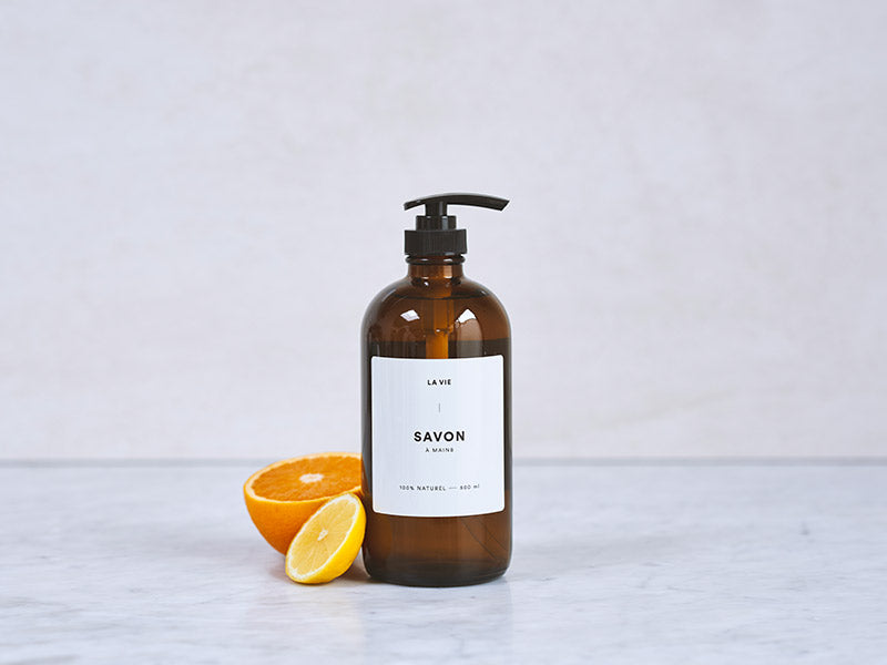Orange + lemon hand soap