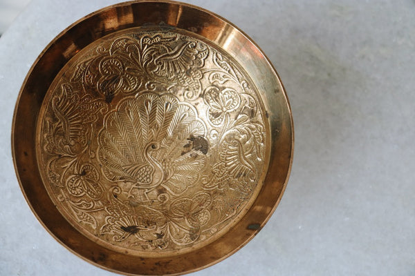 FOUND. 'Peacock' Brass Dish