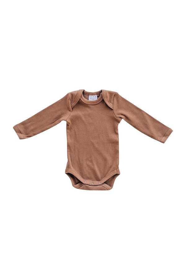 Organic Cotton Bodysuit - Rust