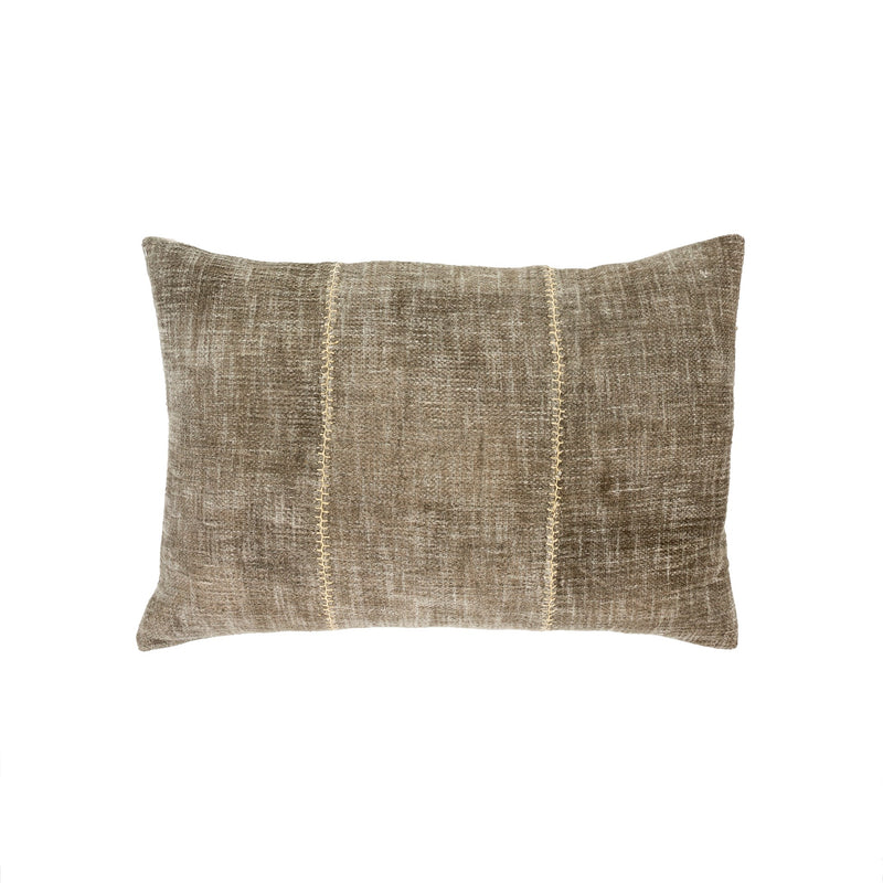 Stonewashed Stitch Pillow - Olive