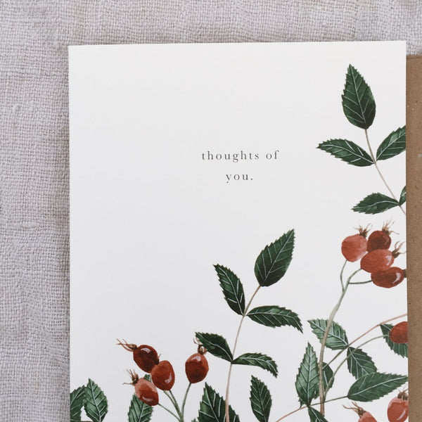Thoughts of you - greeting card