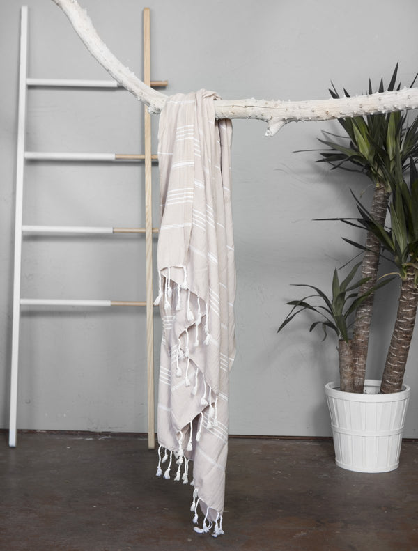 Authentic light Turkish towel - tan