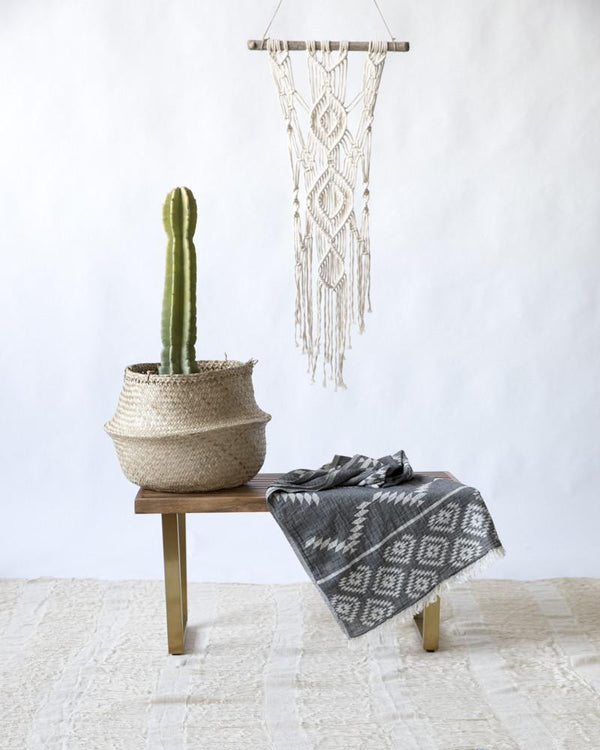 Tribe Turkish Towel - Charcoal