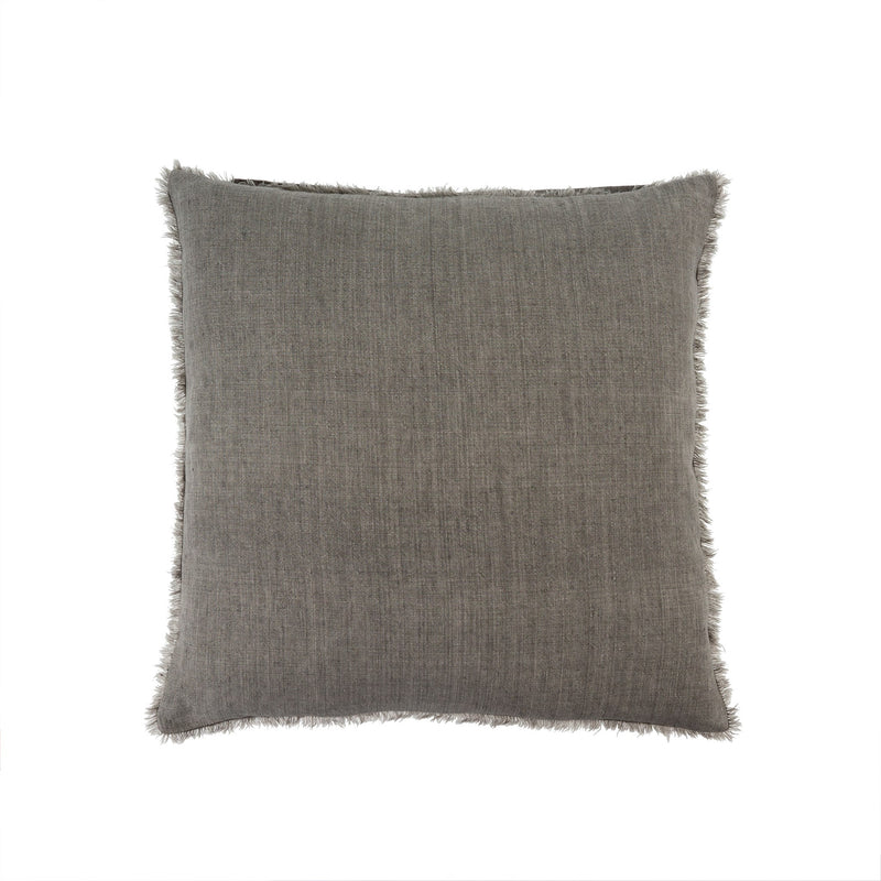 Lina Linen Pillow - Warm Grey