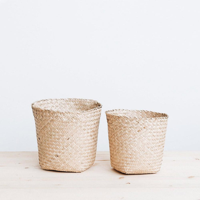 Woven Basket Planter - Medium