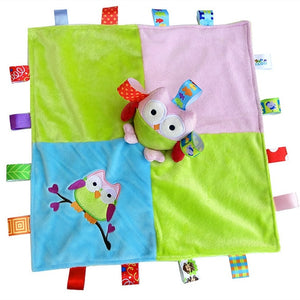 Taggie Styled Baby Blanket With Two Owls