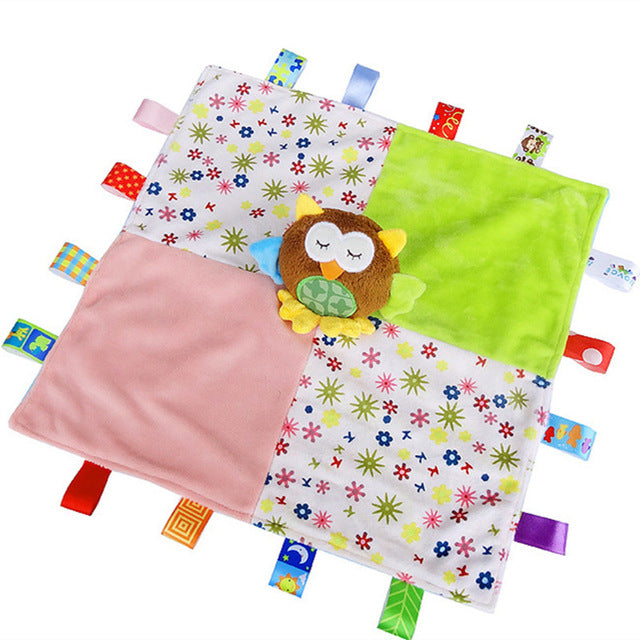 Taggie Styled Baby Blanket with Owl