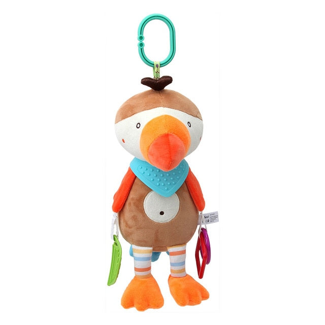 Stroller or Crib Hanger for Baby - Brown Cartoon Bird Baby Toy