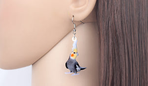 Earrings - Adorable Dangling Cockatiels