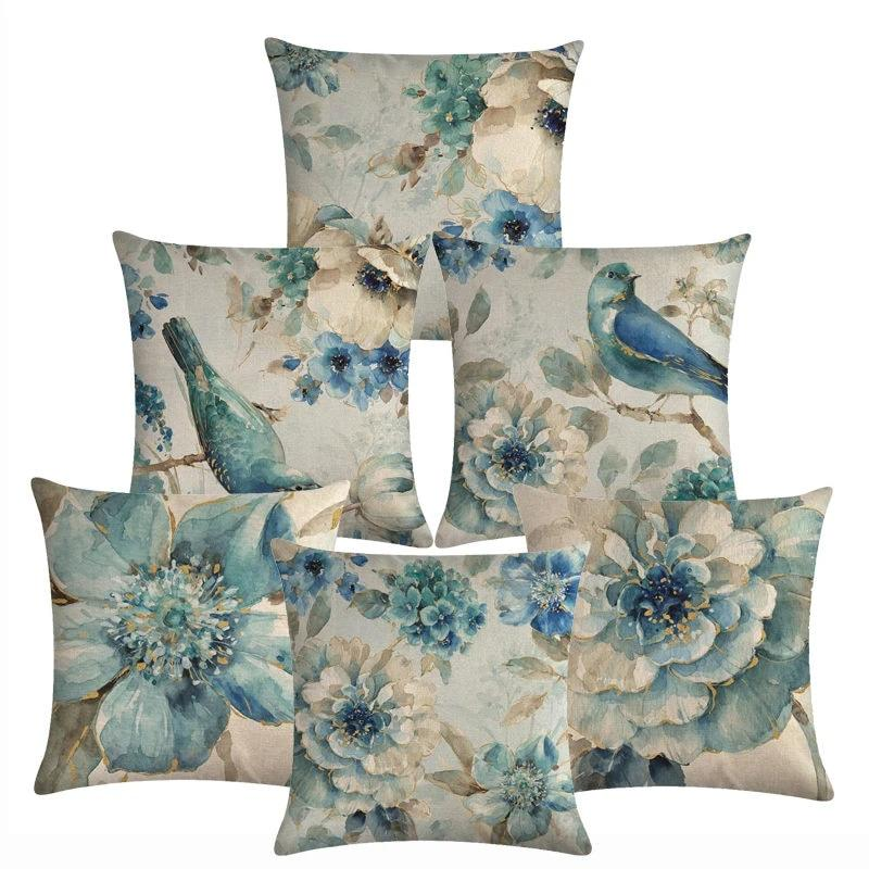 Pillow Cushion/Covers - The Blue Bird Collection