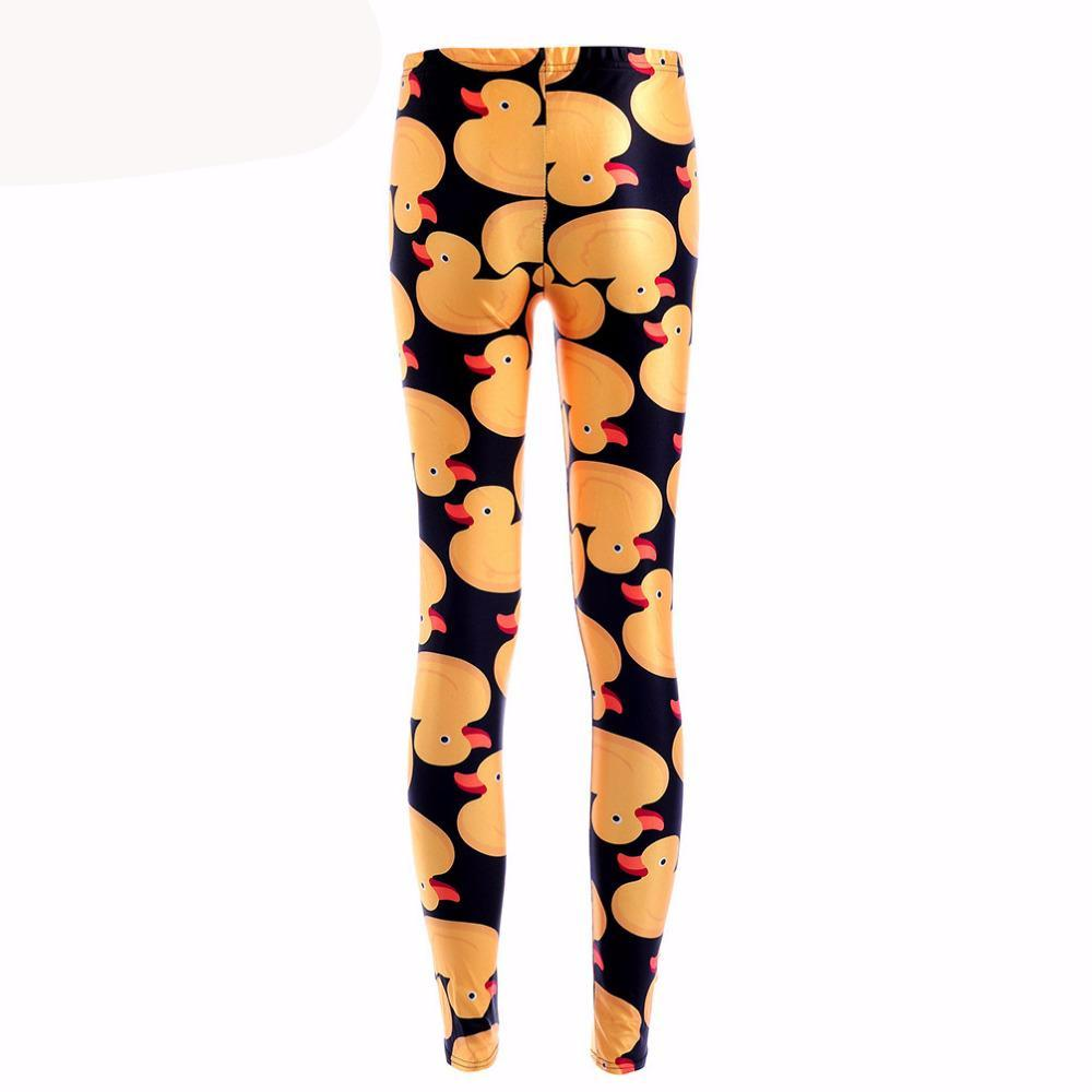 Leggings - Mid-Calf Digital Printed Duck Leggings