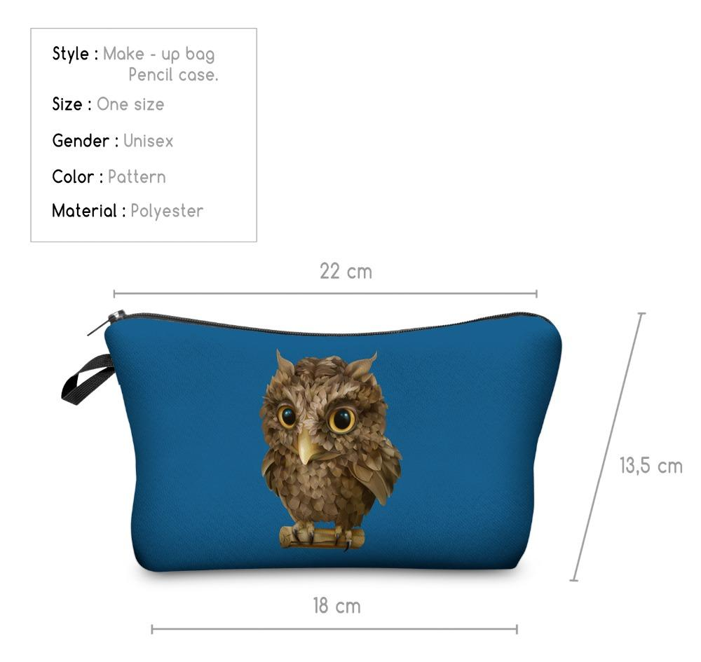 Bag - 3D Bird Cosmetic Makeup Bag - Toucan Design