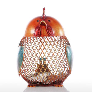 Rooster Shape Metal Piggy Bank