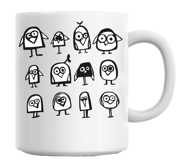 Mug - Cartoon Birds