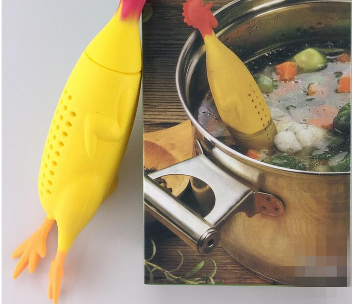 Silly Chicken Herb and Spice Flavor Dispenser for Soups and Stews