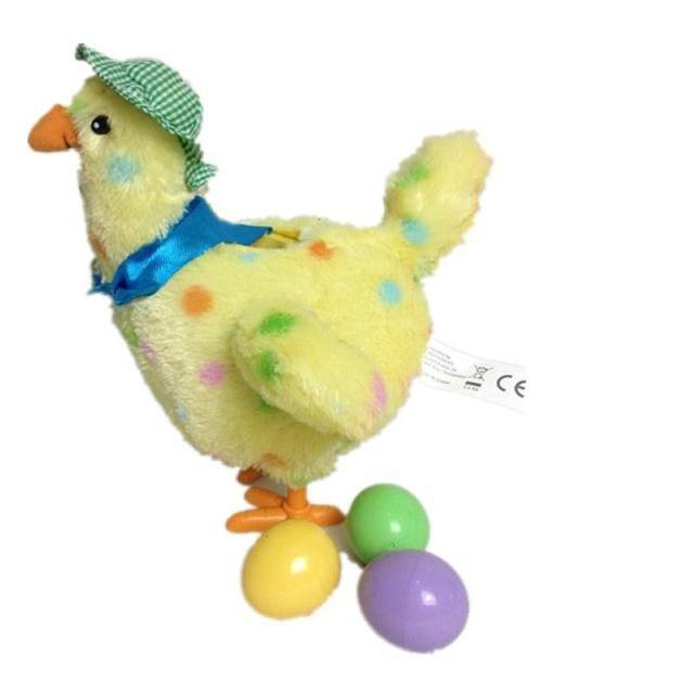 Animated Plush Chicken - Drops Plastic Eggs